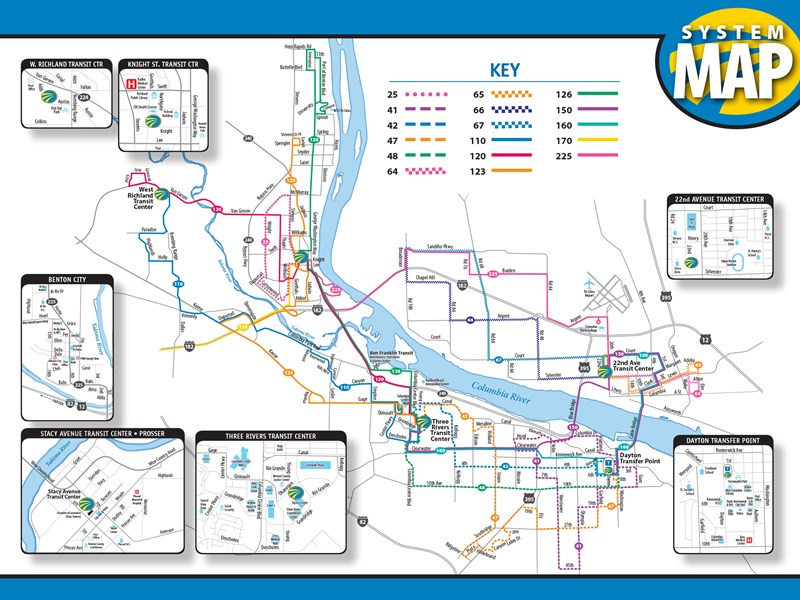 System Map Routes Fixed Route Bus Ben Franklin Transit - Transit map